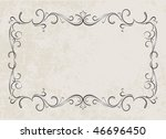 vintage frames for text. | Shutterstock . vector #46696450