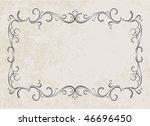 vintage frames for text. | Shutterstock . vector #46696450