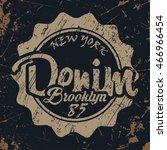grunge t shirt graphic design ... | Shutterstock .eps vector #466966454