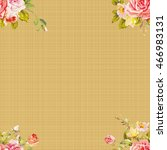seamless floral pattern with... | Shutterstock .eps vector #466983131