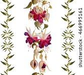 Seamless Floral Pattern Stripes....