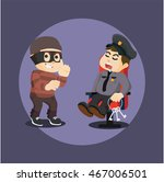thief want to steel key from...   Shutterstock .eps vector #467006501