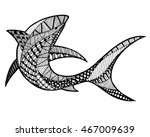 zentangle stylized abstract... | Shutterstock .eps vector #467009639