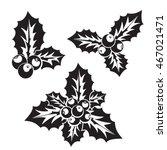 ilex aquifolium decor... | Shutterstock .eps vector #467021471