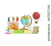 geography class set of objects | Shutterstock .eps vector #467027141
