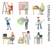 different artistic professions... | Shutterstock .eps vector #467030621