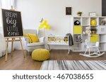 sunny room for little baby in... | Shutterstock . vector #467038655