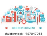 modern flat thin line design... | Shutterstock .eps vector #467047055