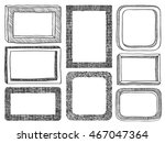 frames doodle vector. set of 8... | Shutterstock .eps vector #467047364