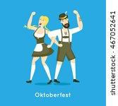 oktoberfest characters.... | Shutterstock .eps vector #467052641