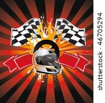 racing sign on the orange ray... | Shutterstock .eps vector #46705294