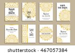 set of cards save the date.... | Shutterstock .eps vector #467057384