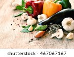fresh farmers market products ... | Shutterstock . vector #467067167