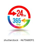 24 hr 365 day with circle... | Shutterstock .eps vector #467068091