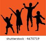 black silos of four children... | Shutterstock .eps vector #4670719