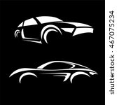 car vehicle silhouette icons... | Shutterstock .eps vector #467075234