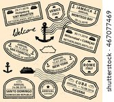 Travel Stamps Vector   Grunge...