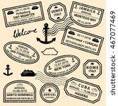 Travel Stamps Vector   Grunge...