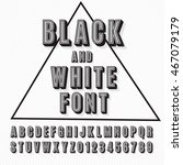 vector retro 3d font with... | Shutterstock .eps vector #467079179