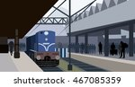 Train At The Station   Vector