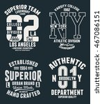 college vector label and print... | Shutterstock .eps vector #467086151