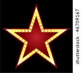 symbol of big red star on black ...   Shutterstock .eps vector #46709167