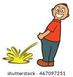 man peeing cartoon illustration ... | Shutterstock .eps vector #467097251