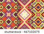 set of 3 abstract patterns.... | Shutterstock .eps vector #467102075