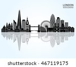 london detailed skyline. vector ... | Shutterstock .eps vector #467119175