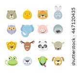 Collection Of Cute Face Animal...
