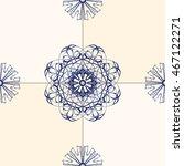 blue tile vector. seamless... | Shutterstock .eps vector #467122271