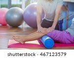 physiotherapist assisting woman ... | Shutterstock . vector #467123579