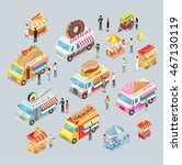street food trucks set. mexican ... | Shutterstock .eps vector #467130119