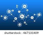 social media communication | Shutterstock . vector #467131409