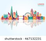 london skyline. vector... | Shutterstock .eps vector #467132231