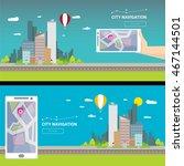 city internet navigation...   Shutterstock .eps vector #467144501