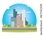 vector city skyline flat modern ... | Shutterstock .eps vector #467151539