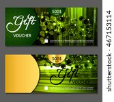 gift voucher. vector ... | Shutterstock .eps vector #467153114