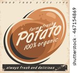 potatoes retro label design... | Shutterstock .eps vector #467154869