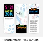 abstract template with... | Shutterstock .eps vector #467164085