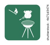 grilled chicken icon. vector... | Shutterstock .eps vector #467165474