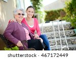 cheerful old woman in...   Shutterstock . vector #467172449