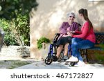 cheerful old woman in... | Shutterstock . vector #467172827