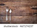 antique silverware spoon and... | Shutterstock . vector #467174237