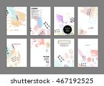 cover template with abstract... | Shutterstock .eps vector #467192525