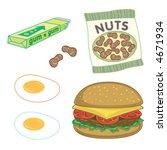 burger  peanuts  chewing gum... | Shutterstock .eps vector #4671934
