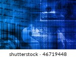 blue money technology business... | Shutterstock . vector #46719448