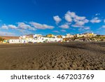 ajuy village and black sand... | Shutterstock . vector #467203769