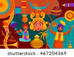 vector illustration of collage... | Shutterstock .eps vector #467204369