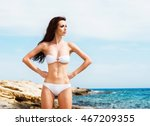 young  beautiful  sporty and... | Shutterstock . vector #467209355